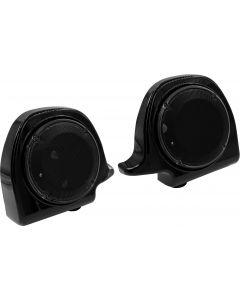 LOWER FAIRING SPEAKER PODS FLH/FLT 94-13 BLACK 6.5 IN.