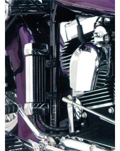 OIL COOLER CHROME