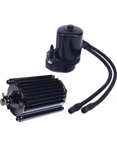 OIL COOLER FILTER KIT BLACK FLTR