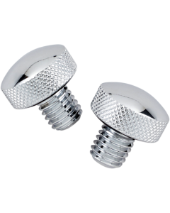 CHROME KNURLED BOLT KIT FOR SOFTAIL SEATS