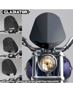 GLADIATOR WINDSHIELD W/CHROME MOUNTS (DARK TINT)