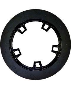HIGH CARBON STEEL PERIMETER ROTOR BLACK FLT 14-UP 11.8