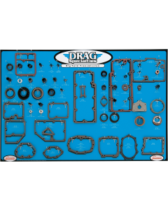 GASKET, SEAL AND O-RING DISPLAY FOR TWIN CAM 5-SPEED TRANSMISSIONS