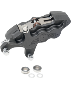 SIX-PISTON DIFFERENTIAL-BORE FRONT CALIPERS