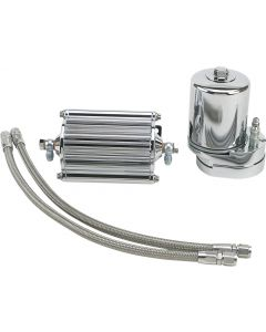 OIL COOLER FILTER KIT CHROME FLTR