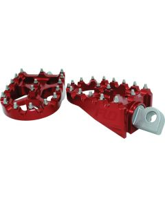 """MOTO SYTLE FOOTPEG SET RED 2""""X3.125"""""""